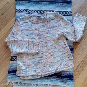 Gap Multi- Color Crew Neck Sweater Size: L